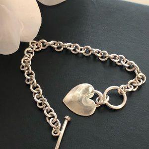 Jewelry - Sterling Silver Heart Charm Bracelet